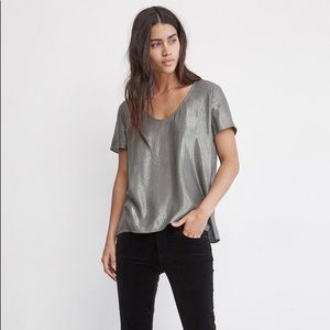 Velvet by Graham & Spencer Agatha Metallic Top